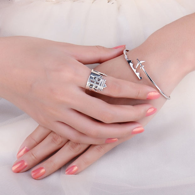 Marble Arch 925 Sterling Silver Stackable Ring