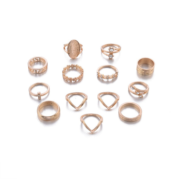 Bohemian Midi 13-16 Piece Variety Ring Sets