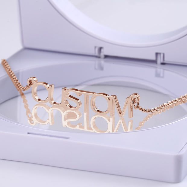 Personalize Your Necklace Nameplate 925 Silver Chain Pendant