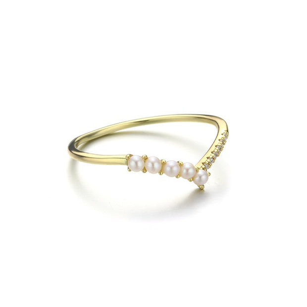Freshwater Pearl Multi-Stone Sterling Silver & 14K Gold Plated Ring
