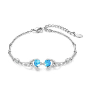 Luxury Minimalist Colored Swarovski Crystal Bracelets