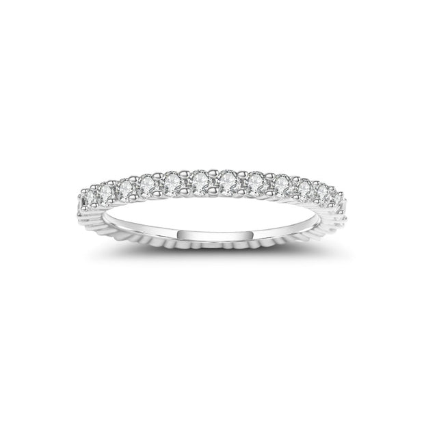 Luxe Moissanite 925 Sterling Silver 2mm Ring