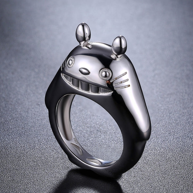 Japanese Inspired Anime Cartoon 925 Sterling Silver Ring
