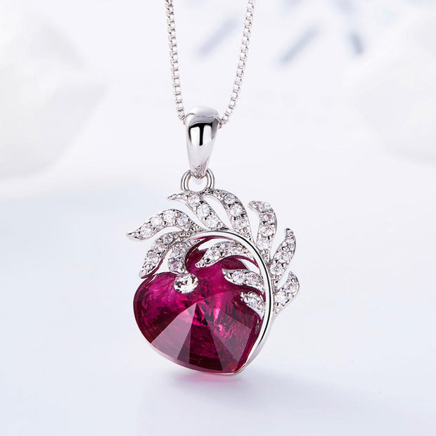 Embellished Crystal from Swarovski Heart Necklace