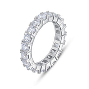 Thin Eternity Cubic Zirconia Sterling Silver 925 Ring