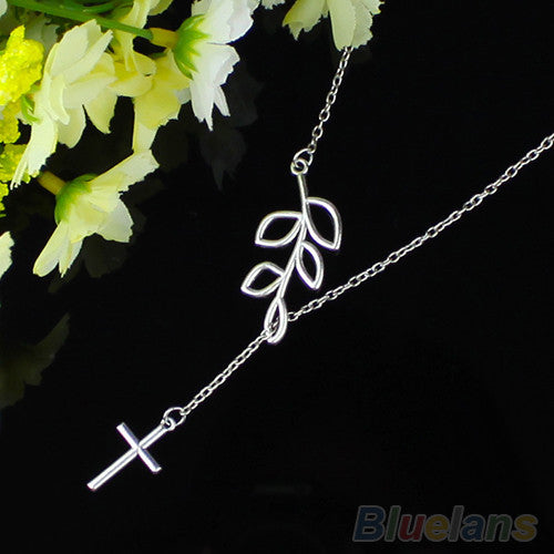 Optional Cross Or Chickadee Bird Pendant Charm Chain Necklace