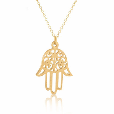 Hand Of Fatima Positive Abundance Faith Necklace & Pendant