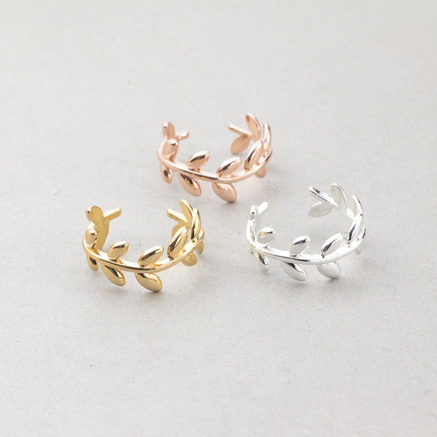 Laurel Wreath Fashion Adjustable Ring