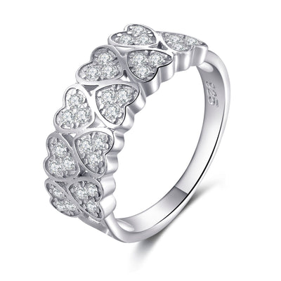 Lovely 925 Sterling Silver Infinity Heart Cubic Zirconia Ring