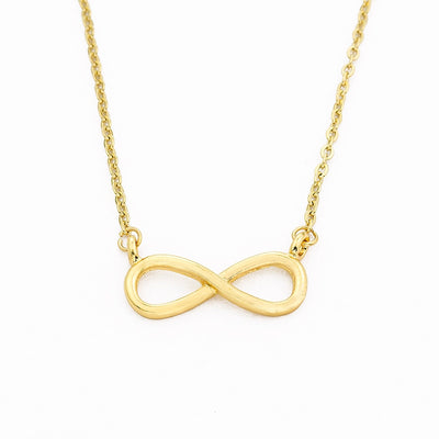 Minimalist Infinity Shaped Pendant Necklace