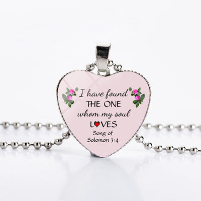 Multiple Bible Scriptures Verse Faith Pendant & Necklace