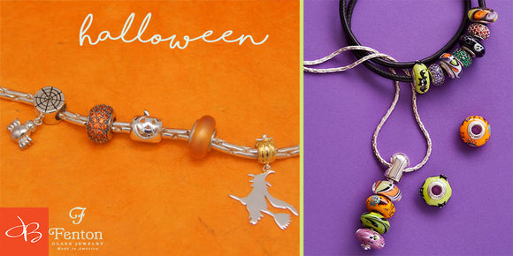 Fenton Glass Beads: Halloween Collection
