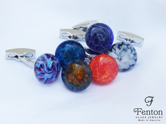 Fenton Glass Cufflinks