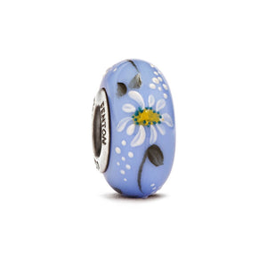 """Daydream Daisies"" Hand Decorated Glass Bead - Fenton Glass Jewelry"