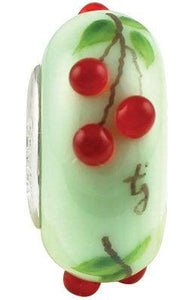 """Cherry Delights"" Whimsy Glass Bead - Fenton Glass Jewelry"