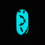 """Bat Cave"" Glow-in-the-Dark Hand Decorated Bead"