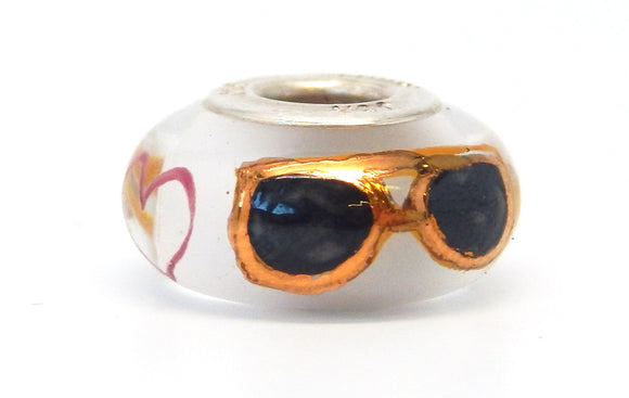 Elvis Graceland Shades Hand Decorated Glass Bead