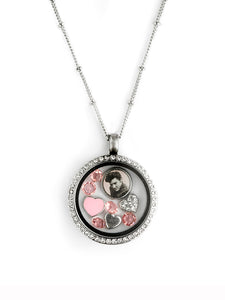"Elvis ""Heartthrob"" Floating Charm Necklace"