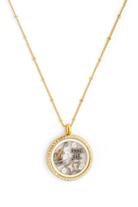 "Elvis ""King of Rock 'n' Roll"" Floating Charm Necklace"