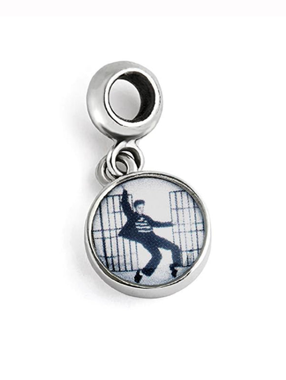 Elvis Jailhouse Rock Dangle Charm