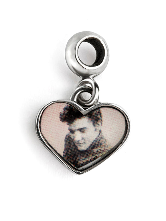 Elvis Heartthrob Heart Dangle Charm