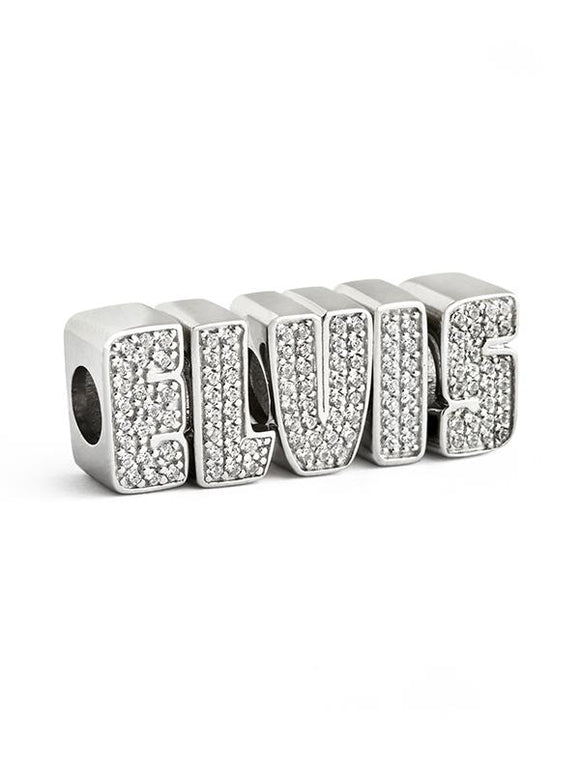 Elvis Letters Crystal Beads