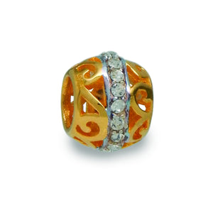 Sparkling Gold Spacer Bead