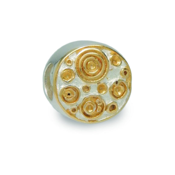 Swirling Dots Spacer Bead