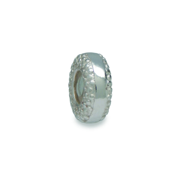 Pebbled Sterling Silver Stopper Bead