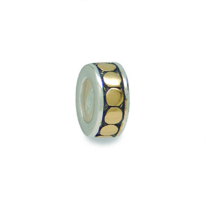 Black & Gold Circle Stopper Bead