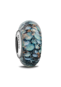 """Glimmer in the Night"" Glass Crafted Bead"