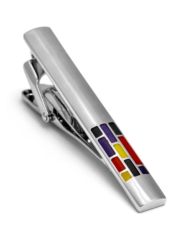Enamel Rhodium Plated Tie Bar