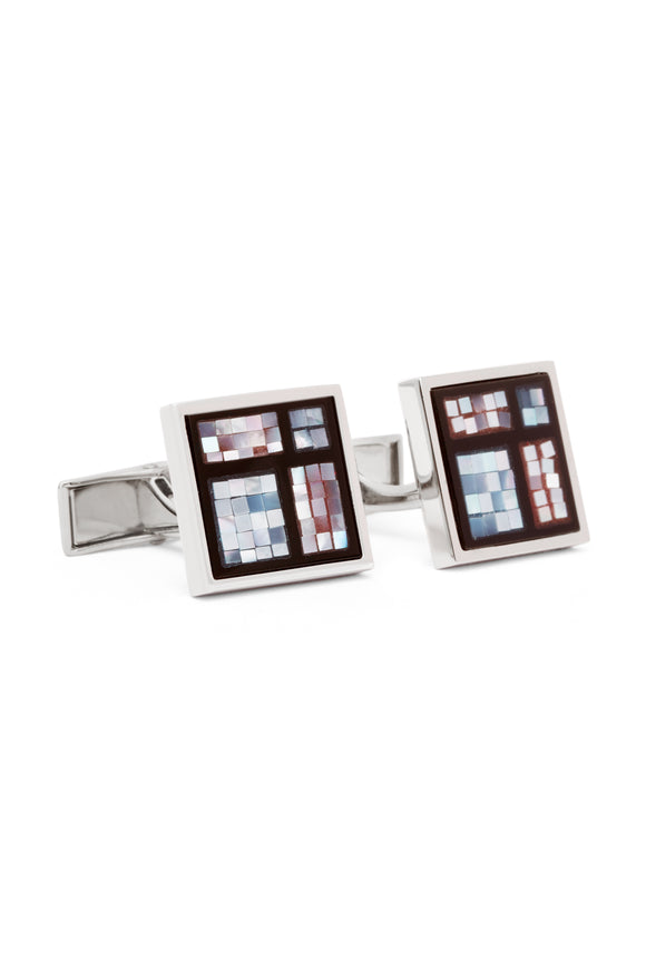 Sectioned Mosaic Mother of Pearl Cufflinks