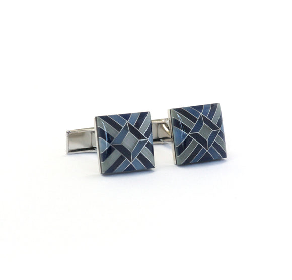 Mother of Pearl Inlay Mosaic Cufflinks