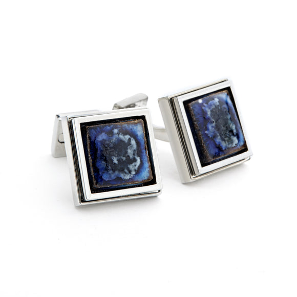 Artisan Black Ceramic Cufflinks