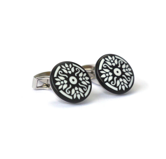 Black Mosaic Cufflinks