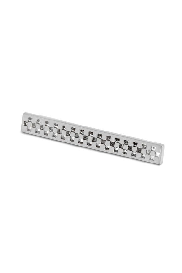 Cut-Out Rhodium Plated Tie Bar