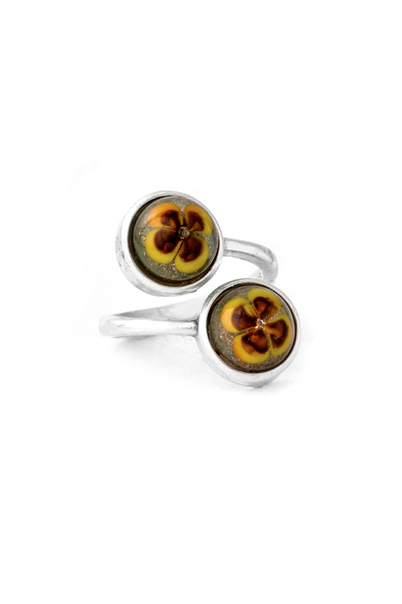 Floral Duo Ring