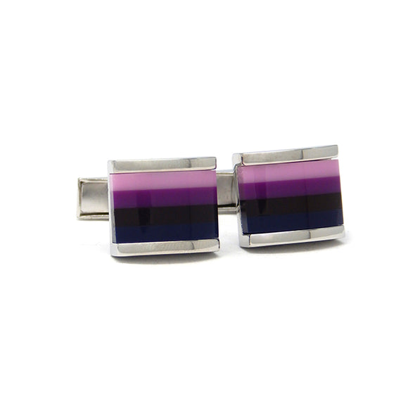 Purple Ombre Striped Cufflinks