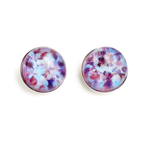 """Plumberries"" Glass Crafted Stud Earrings - Fenton Glass Jewelry"