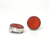 Wood Circle Button Covers