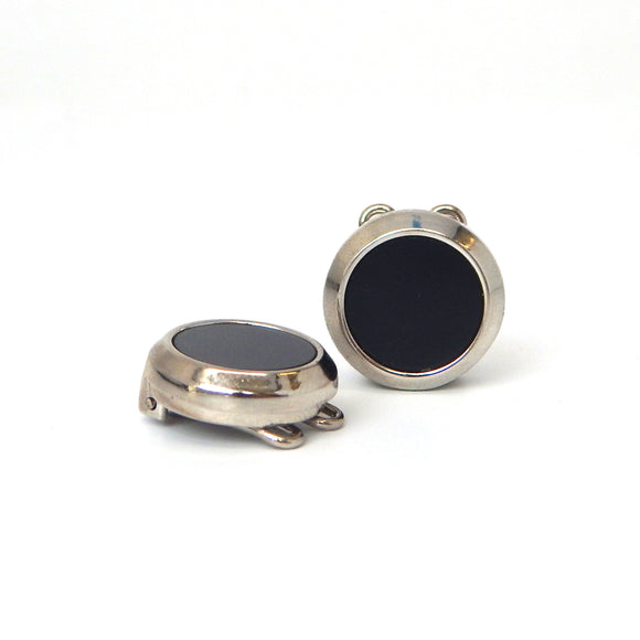 Onyx Circle Button Covers