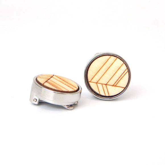 Light Wood Design Button Covers