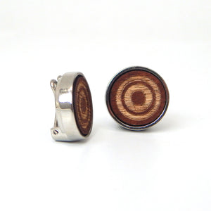 Wooden Target Design Button Covers
