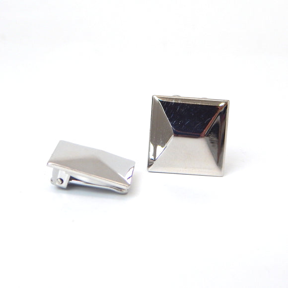 Rhodium Plated Stud Button Covers