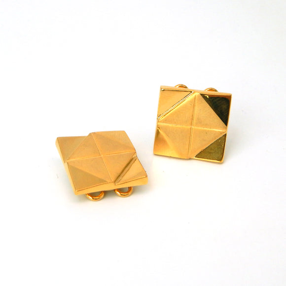Gold Plated Square Button Covers
