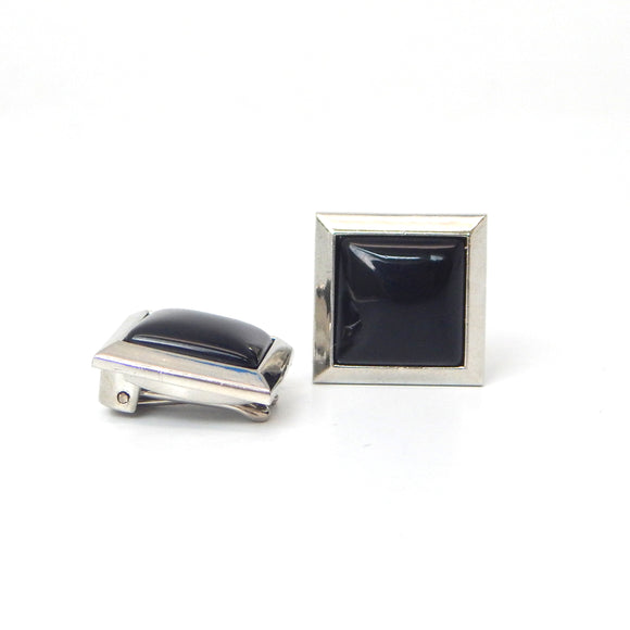 Simple Onyx Square Button Covers