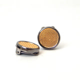 Gunmetal Two Tone Button Covers