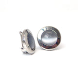 Blue Stone Circle Button Covers