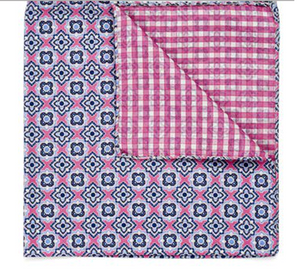 Pink Gingham Pocket Square